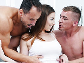 Seductive babe Antonia Sainz is making love with two hot blooded boyfriends