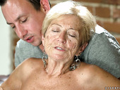 Filthy granny Malya has an affair with young dude living nextdoor