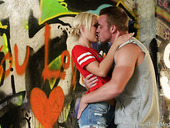 Dude fucks lovely girlfriend Kelsey Kage in an abandoned building