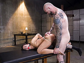 Tied up and gagged Latina slut with small tits Victoria Voxxx is fucked doggy