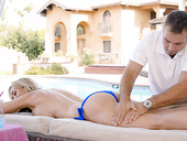 Rich blond temptress Brandi Love has an affair with handsome young massage boy
