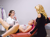 Stepmom, stepdaughter and lesbian gynecologist are making love like there's no tomorrow