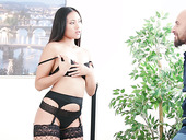 Sizzling Thai babe Mai Thai gives a sensual blowjob before a rough anal sex