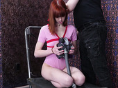 Ginger chick Alexa Nova gets her mouth fucked and gives a rimjob to one kinky pervert