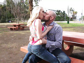 Sophomore student Cadence Lux hooks up with one married guy in the park