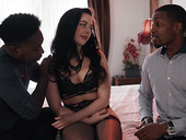 Black boys fuck bootylicious brunet babe Whitney Wright and cums in her mouth