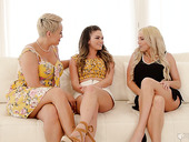 First lesbian experience with stepmom Ryan Keely and her best friend Christie Stevens