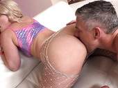 Blonde With Puffy Ass Lisey Sweet Gives Her Head And Fucked Anally