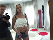 Slender Ukrainian model Angelika Grays is fucked anally by Rocco Siffredi