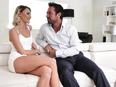 Hot blond babe Emma Hix is having crazy sex fun with handsome boyfriend Johnny Castle