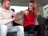 Two dudes pick up Czech chick who allows to fuck her in the back seat