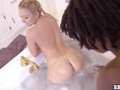 Big black man fucks pretty white chick with plump ass Aubrey Thomas