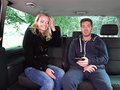 Lustful blonde from the street Amy gives a blowjob and gets fucked in the van