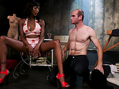 White Dude Licks Anus And Sucks Black Cock Of Transsexual Dominatrix