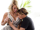 Beautiful woman Jessica Drake has an affair with young student