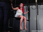 SM whore Fairy gets her pussy punished in the dark BDSM room