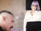 BBW secretary Alexxxis Allure seduces her boss and gets fucked on the table