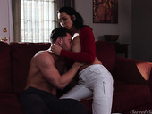Single cougar Reagan Foxx gets intimate with young handsome guy