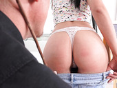Brunette babe Leanne Lace is fucked by handsome elder teacher