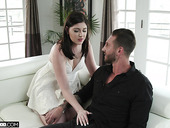 Nasty wife Miranda Miller is fucked by young lover in front of husband