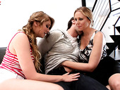 Dude enjoys fucking sexy milf Julia Ann and pretty teen Jessie Andrews