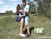 Picnic with busty teen girlfriend ends with crazy and passionate sex