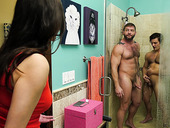 Mandy Meadows caught her boyfriend taking a shower with other guy