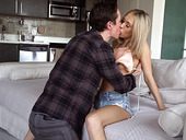 Lecherous babe Sky Pierce is fucked by tattooed guy Owen Gray