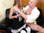 Asian escort Jennie puts on sexy maid uniform and gets fucked by horny tourist