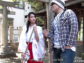 Modest Asian girl Ako Nishino turned to be a blowjob expert and hot blooded bitch