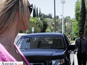 Hot single woman Tanya Tate picks up one young guy at the gas station