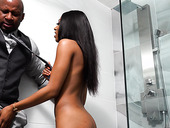 Black babe with juicy ass Sizi Sev gets her pussy and anus fucked