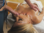 Transsexual mature Johanna B gets anus fucked after an intimate massage