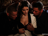 Erotic candlelight threesome sex video featuring Italian babe Valentina Nappi