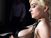 Elegant blonde with short hair Skye Blue is making love with her new admirer