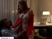 Big tittied Lilian Stone is making love with her new admirer