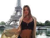 The Eiffel Tower photo session of fucking hot Russian model Maria Rya