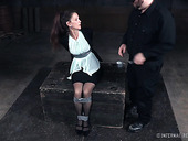 Mature woman Paintoy Emma gets spanked and punished in the dark room