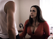 Blowjob expert milf Chanel Preston sucks a big dick of pretty boy Nathan Bronson