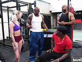 White girl Chloe Temple is fucked hard by several black guys