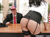 Old politician fucks super hot whore Diamond Monrow on the office table