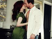 Red haired seductress Penny Lay is fucked and creampied