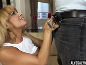 Experienced bitch Alyssa Lynn is fucked by handsome lad
