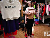 Plump teen Anna Blaze is changing her clothes