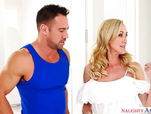 Mouth watering housewife Brandi Love seduces young hot plumber Johnny Castle