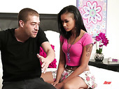 Xander Corvus can't say no to sex-starved ebony babe Skin Diamond