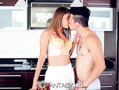 Hypnotizing beauty Dillion Carter is eating strawberry before passionate sex fun