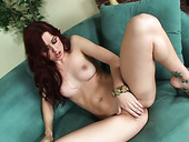 Redhead pale skin babe Karlie Montana shows what she's got