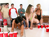 Kristina Rose, Jada Stevens, Diamond Kitty and Alexis Fawx eat each other in front of students