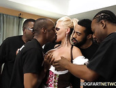 Oktoberfest gangbang with mouth watering white milf Alena Croft